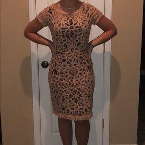 Cream, lace dress